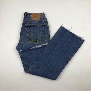 Vintage Levi's High Waist Butt Rip Raw Hem Jeans
